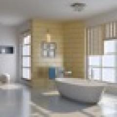 שילוב אסטטי בין הריצוף לחיפוי קירות בחדרי הרחצה